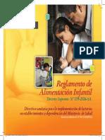 Reglamento de Alimentación Infantil d.s n 009-2006-Sa