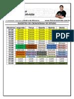 Sugestão de Cronograma de Estudo
