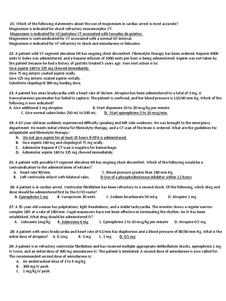 Bls 2014 exam answers array acls post test cardiac arrest cardiopulmonary resuscitation rh scribd fandeluxe Images