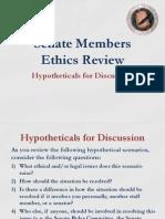 Senate Members Ethics Review