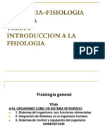 6- Introduccion a La Fisiologia
