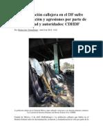 La Población Callejera en El DF Sufre Discriminación y Agresiones Por Parte de Sociedad y Autoridades