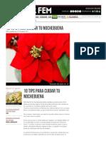 10 Tips para el cuidado de las Nochebuenas