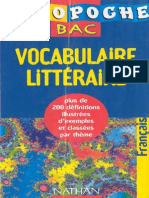 Vocabulaire Littéraire
