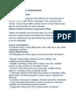 General Cancer Information