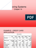 Credit Card Scoring Systems