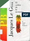 Le Goff, Jacques - El Orden de La Memoria