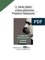 Nihilismo_Escritos Póstumos-Friedrich Nietzsche