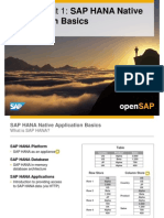 OpenSAP HANA1-1 Week 01 Developing Applications for SAP HANA