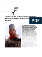 Injustice in the Name of Delivering Justice