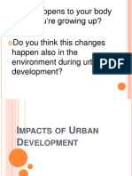 Impacts of Urban Development
