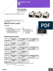 61F-G[]P [Dse31] Floatless Level Switch (Plug-In Type)