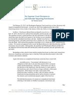 Article Foreclosure Decisions