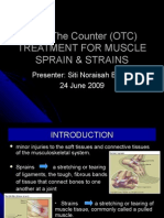 Otc Treatment for Muscle Sprain & Strains