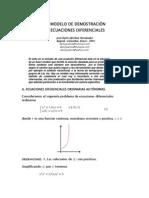 Un Metodo de Soluciones en Ecuaciones Diferenciales