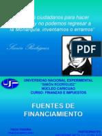 UNIDAD VII - FUENTES DE FINANCIAMIENTO
