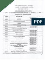 Lista de Carreras y Especialidades