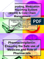 ADR Reporting, Medication Error Reporting System