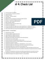 Unit 4 Revision Checklist