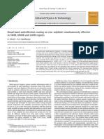 Broad Band Antireflection Coating on Zinc Sulphide Simultaneously Effective (2)