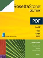 Rosetta Stone V.3 German L2 Course Contents