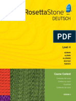 Rosetta Stone V.3 German L4 Course Contents