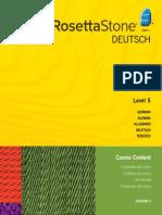 Rosetta Stone V.3 German L5 Course Contents