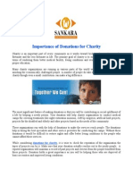 Importance of Donations for Charity