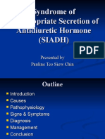 Syndrome of Inappropriate Secretion of Anti Diuretic Hormone