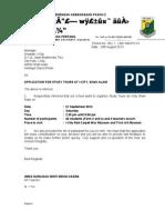 Surat Permohonan lawatan ke I-City (utk hantar fax)