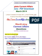 Mar 2014- Monthly PDF Www.currentaffairs4examz