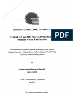 Critical QA and QC Process Procedure in Pressur Vessel Fabrication Raden Ahmad Muhaimin Humaidi - 24 Pages