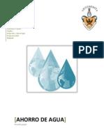 Ahorro Agua