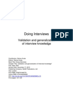 Validation and Generalization of Interview Knowledge