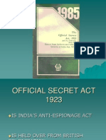 Official Secret Act 1923