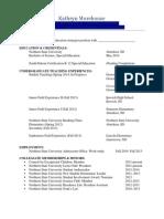 kathryn morehouse official teaching resume website version