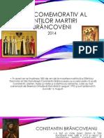 Anul Comemorativ Al Sfinţilor Martiri Brâncoveni