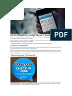Cómo Registrar Tu Empresa en Foursquare