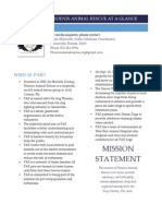 Phoenix Animal Rescue Fact Sheet