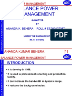Balance Power Management
