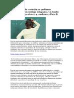 Dificultades en La Resolución de Problemas Matemáticos y Su Abordaje Pedagógico