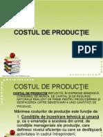 Costul de Productie