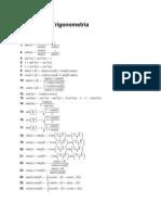 Formulario Trigonometría