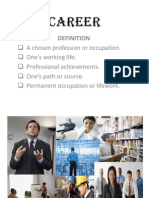 CAREER Powerpoint