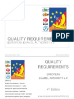 Quality Requirements European Enamel Authority
