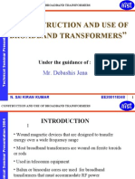 Construction and Use of Broadband Transformers 1