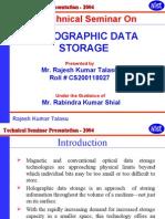 Cs-- Holographic Data Storage
