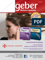 Ratgeber aus Ihrer Malteser-Apotheke – April 2014