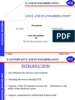E-governance and Standardization