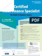 Certified Trade Finance Specialist